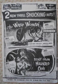 Wasp Woman/Beast from Haunted Cave trade ad, '62